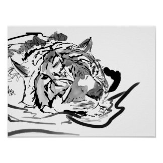 The Tranquil Tiger Poster