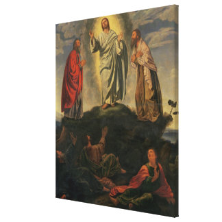 The Transfiguration, c.1527-33 (oil on panel) Stretched Canvas Print