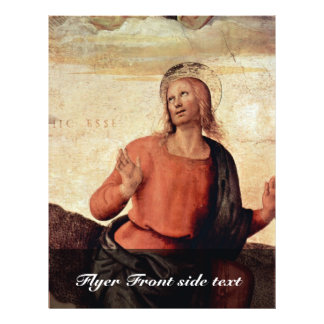 The Transfiguration Of Christ Detail By Perugino Flyer Design