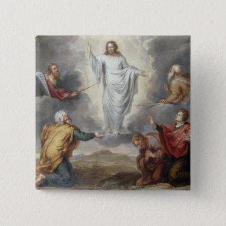 The Transfiguration (oil on copper) 15 Cm Square Badge