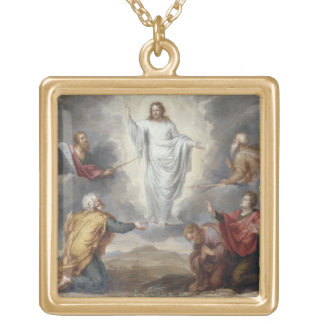 The Transfiguration (oil on copper) Gold Plated Necklace