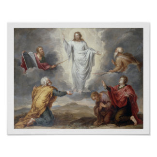 The Transfiguration (oil on copper) Poster