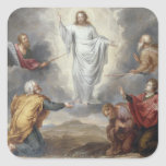 The Transfiguration (oil on copper) Square Stickers