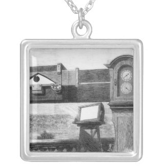 The Transit of Venus Silver Plated Necklace