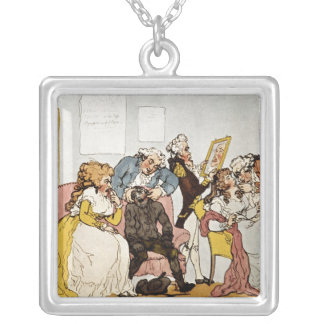 'The Transplanting of Teeth', cartoon Silver Plated Necklace