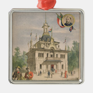 The Transvaal pavilion at the Universal Silver-Colored Square Decoration