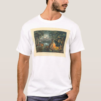 The Trapper's Camp-fire 1866 (1779A) T-Shirt