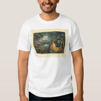 The Trapper's Camp-fire 1866 (1779A) Tshirt