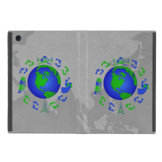 The Traveling Feet Design Covers For iPad Mini