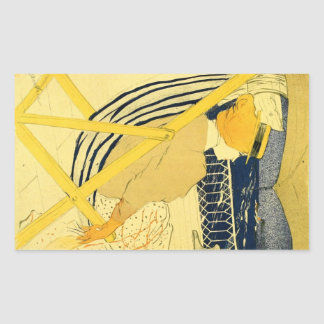 The traveller 2 by Toulouse-Lautrec Rectangle Sticker