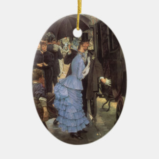 The Traveller (aka Bridesmaid) by James Tissot Ceramic Oval Decoration
