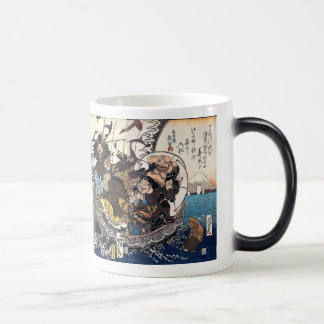 The treasure boat which places seven luck God Morphing Mug