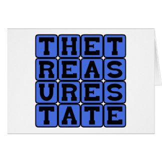 The Treasure State Montana Nickname Card