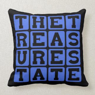 The Treasure State Montana Nickname Throw Pillow