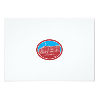 The Treasury Building Washington DC Woodcut Retro Custom Announcements