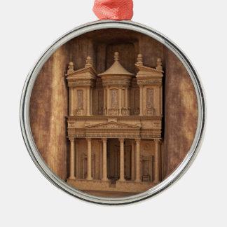 The Treasury of Petra, Jordan Silver-Colored Round Decoration