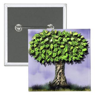 The tree 15 cm square badge