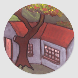 THE TREE AND COTTAGE CLASSIC ROUND STICKER