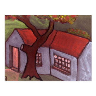 THE TREE AND COTTAGE POSTCARD