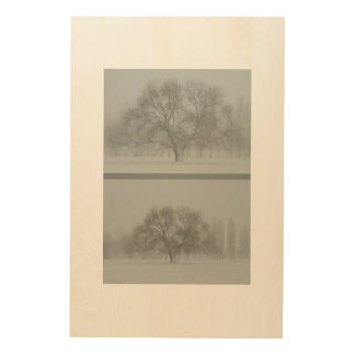 The tree. Approximation Wood Print