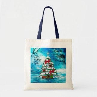 The Tree Christmas Folk Art Tote Bag