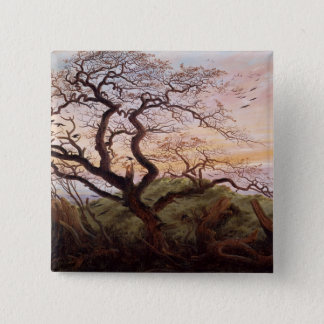 The Tree of Crows, 1822 15 Cm Square Badge
