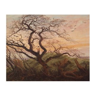 The Tree of Crows, 1822 2 Wood Print