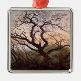 The Tree of Crows, 1822 Silver-Colored Square Decoration