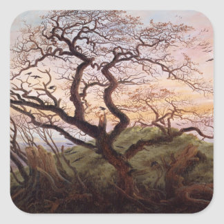 The Tree of Crows, 1822 Square Sticker