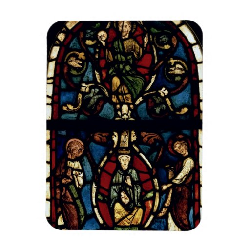 The Tree of Jesse, 13th century (stained glass) Rectangular Magnets