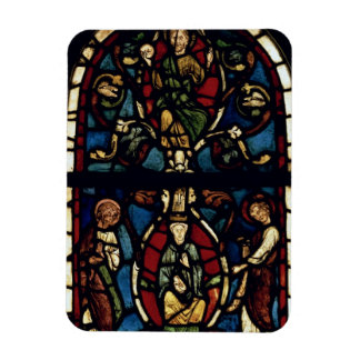 The Tree of Jesse, 13th century (stained glass) Rectangular Photo Magnet
