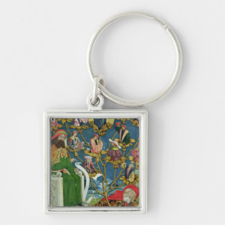 The Tree of Jesse, from the Dome Altar, 1499 Silver-Colored Square Key Ring