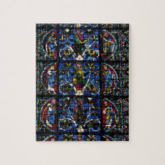 The Tree of Jesse, lancet window in the west facad Jigsaw Puzzle