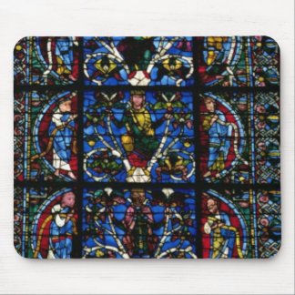 The Tree of Jesse, lancet window in the west facad Mouse Pad