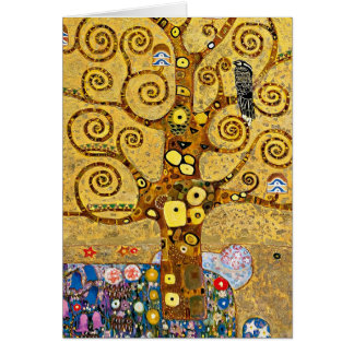 """The Tree of Life"" and Gustav Klimt Greeting Card"