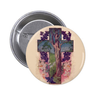 The Tree Of Life Cross Christian Button