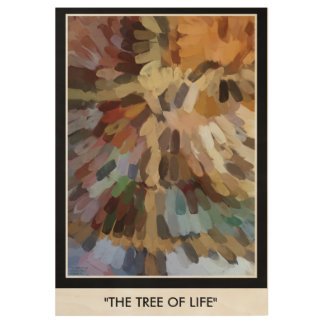 THE TREE OF LIFE WOOD POSTER