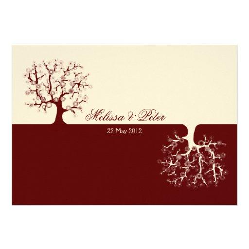 The Tree of Life Yin-Yang Wedding Invitation