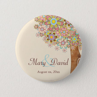 The Tree of Love Save the Date 6 Cm Round Badge