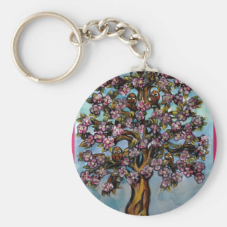 The tree of Owls Key Ring