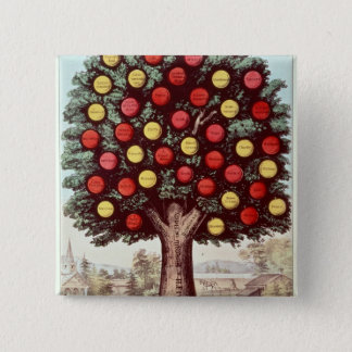 The Tree of Temperance, 1872 15 Cm Square Badge