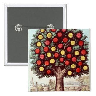 The Tree of Temperance, 1872 15 Cm Square Badge