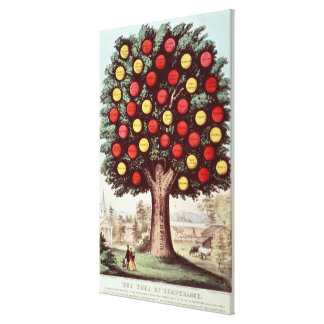 The Tree of Temperance, 1872 Canvas Print