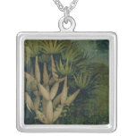 The Tree of the Knowledge of Good and Evil Square Pendant Necklace