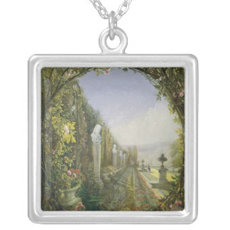 The Trellis Window, Trentham Hall Gardens Silver Plated Necklace