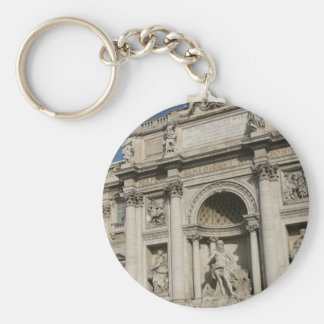 The Trevi Fountain Basic Round Button Key Ring