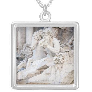 The Trevi Fountain (Italian: Fontana di Trevi) 2 Silver Plated Necklace