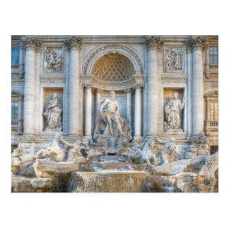 The Trevi Fountain (Italian: Fontana di Trevi) 5 Postcard