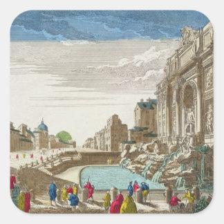 The Trevi Fountain, Rome Square Sticker