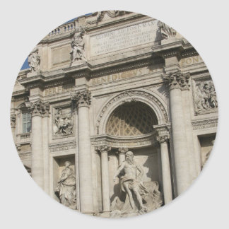The Trevi Fountain Round Sticker
